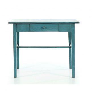 Malované stoly a stolky Modrý repasovaný stolek.