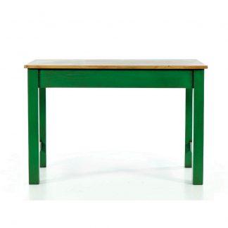 zelený jídelní stůl z masivu Svět pokladů
