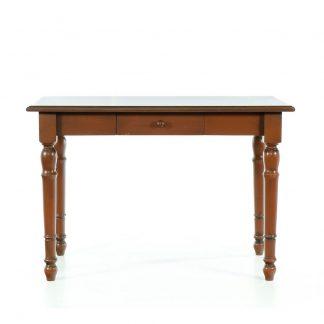 Malované stoly a stolky Hnědý patinovaný jídelní stůl.