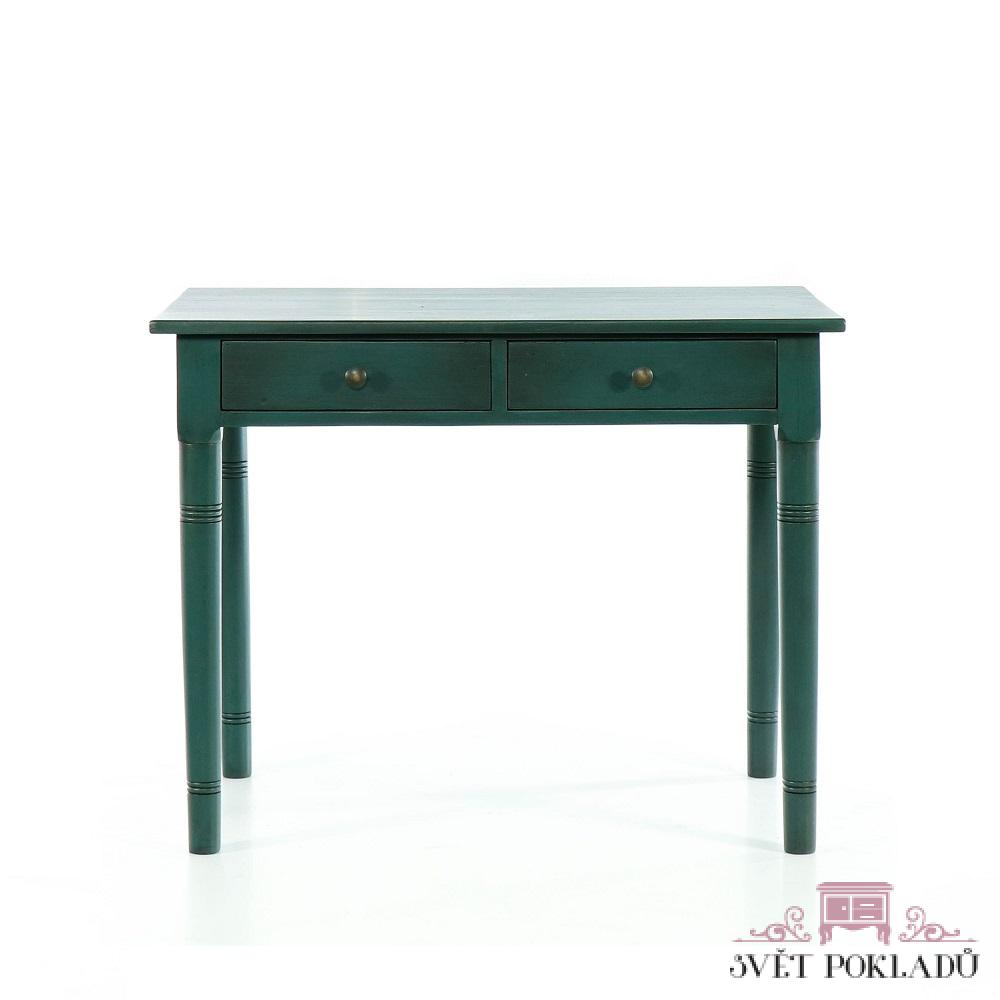 Malované stoly a stolky Selský soustružený a malovaný stolek.