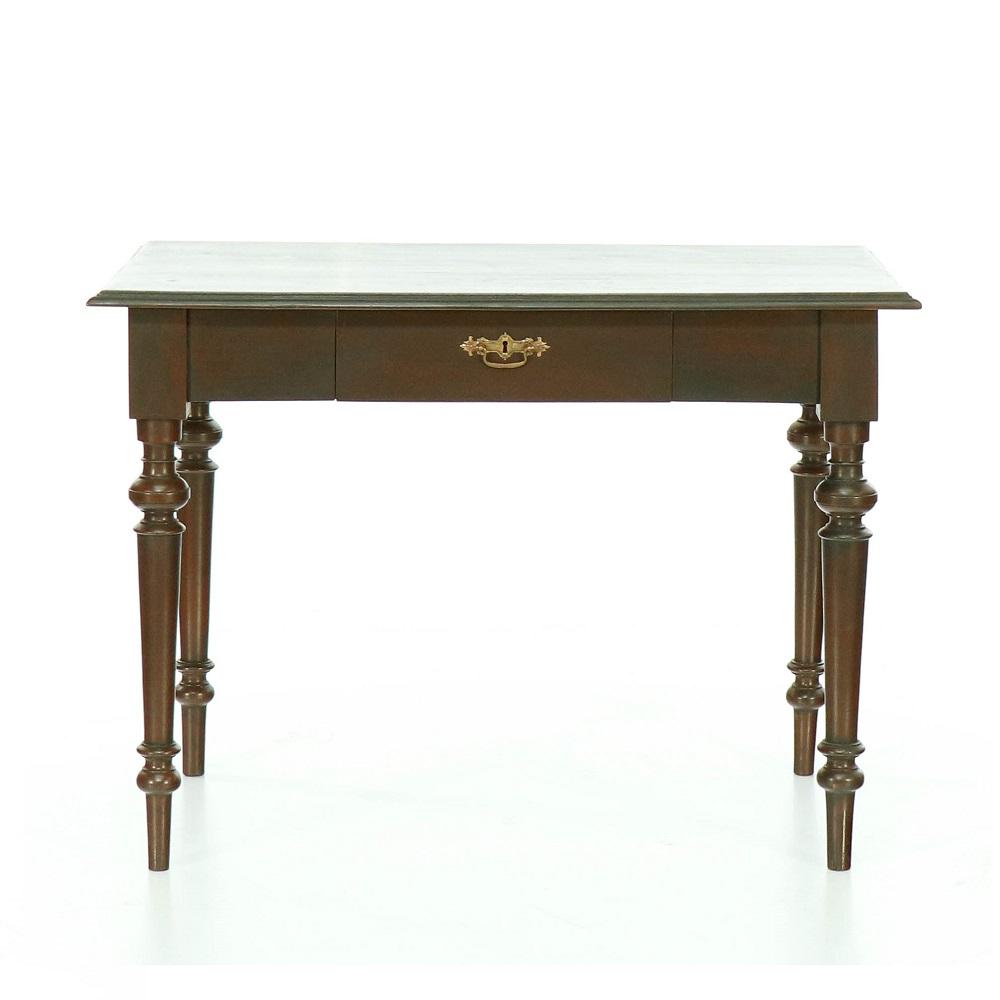 Malované stoly a stolky Hnědý jídelní starožitný stůl.