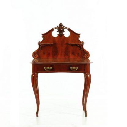 Starožitný dýhovaný stolek s nástavcem.
