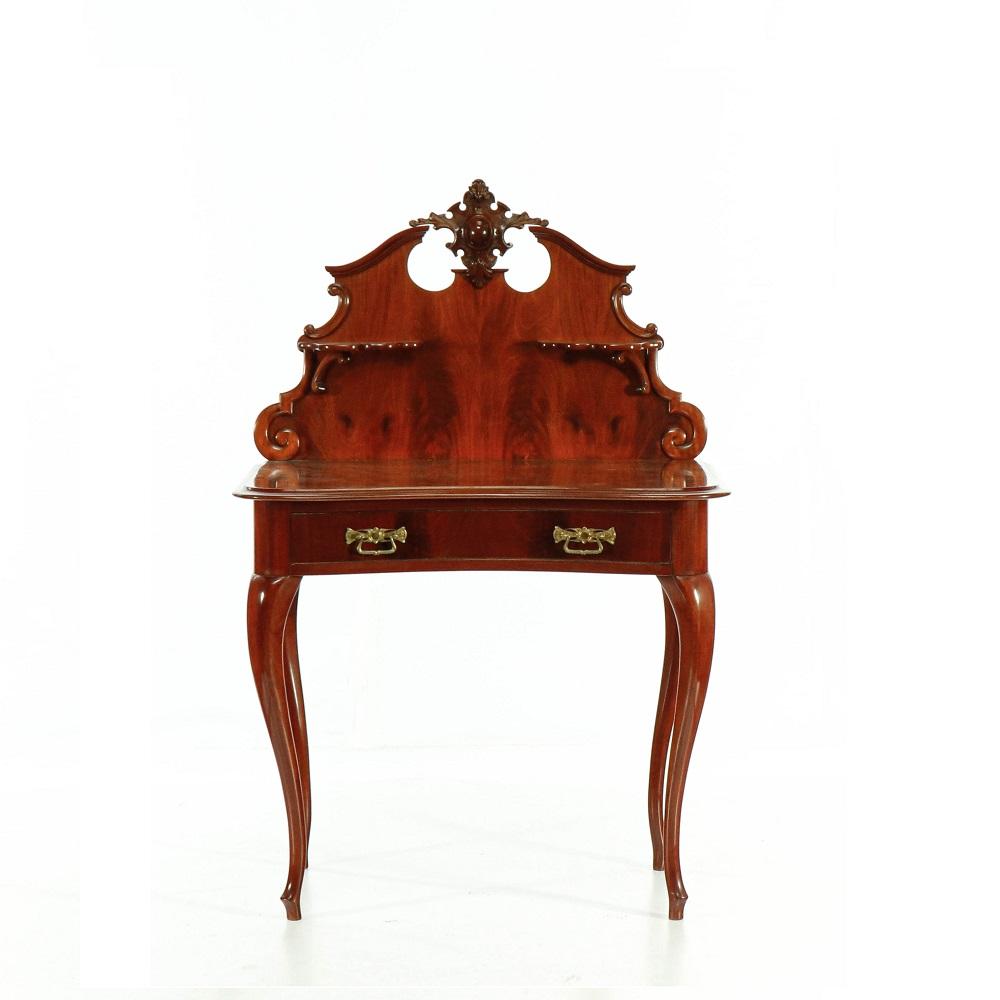 Sekretáře a psací stolky Starožitný dýhovaný stolek s nástavcem.