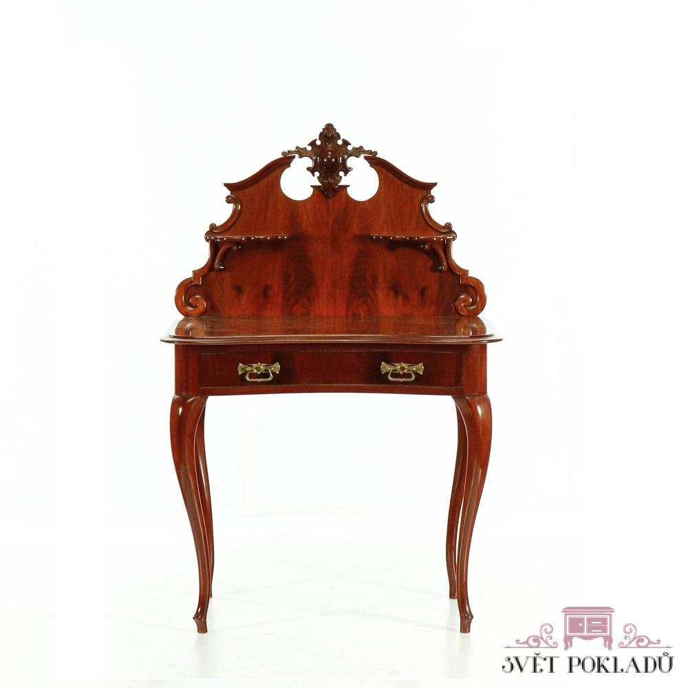 rokokový psací stolek Svět pokladů