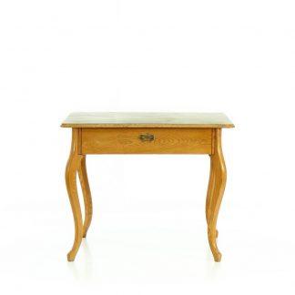 Stůl z masivního jasanového dřeva s prohnutými nohami