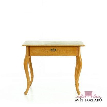 Stůl z masivního jasanového dřeva.