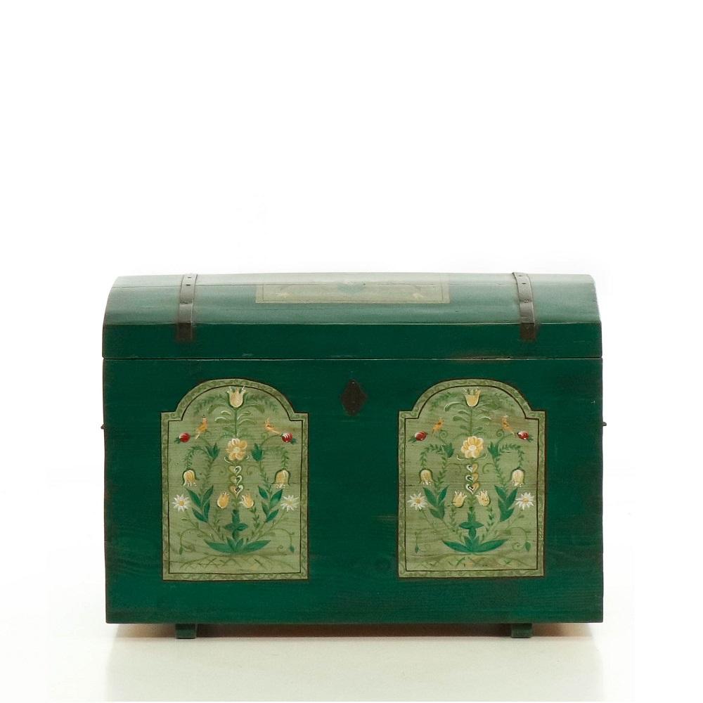 starožitný malovaný kufr Svět pokladů