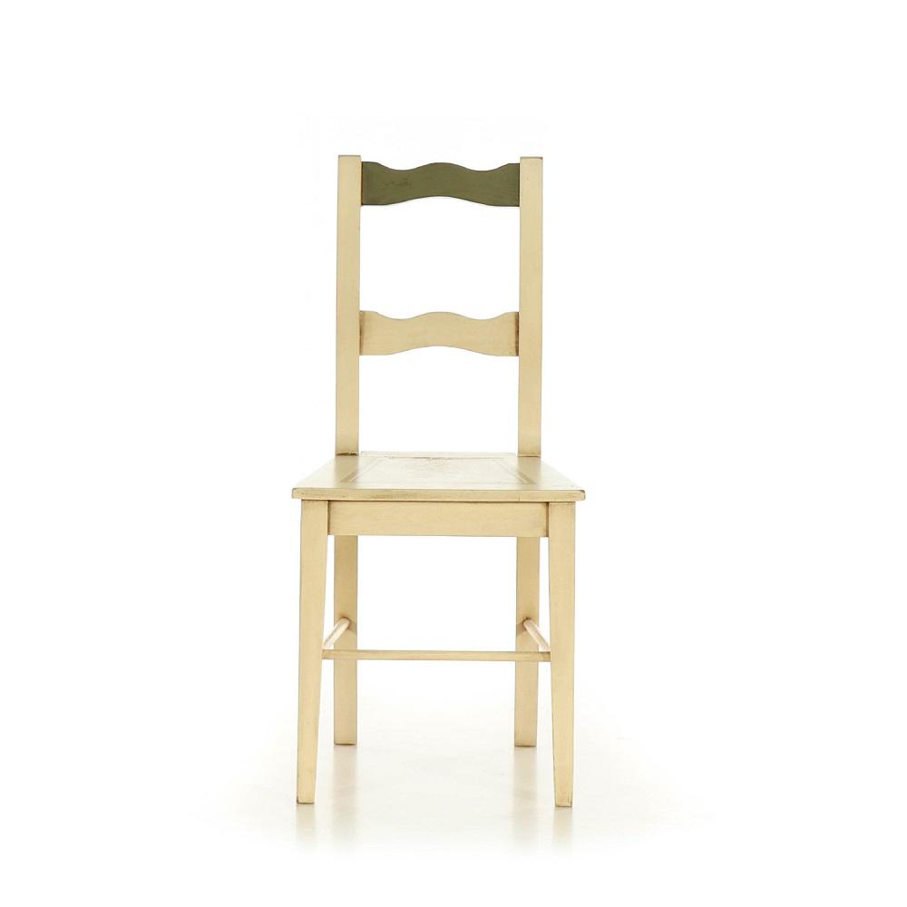 malovaný židle z masivu Svět pokladů