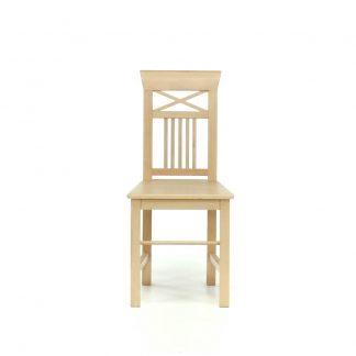 Rustikální židle v bílém vosku Svět pokladů
