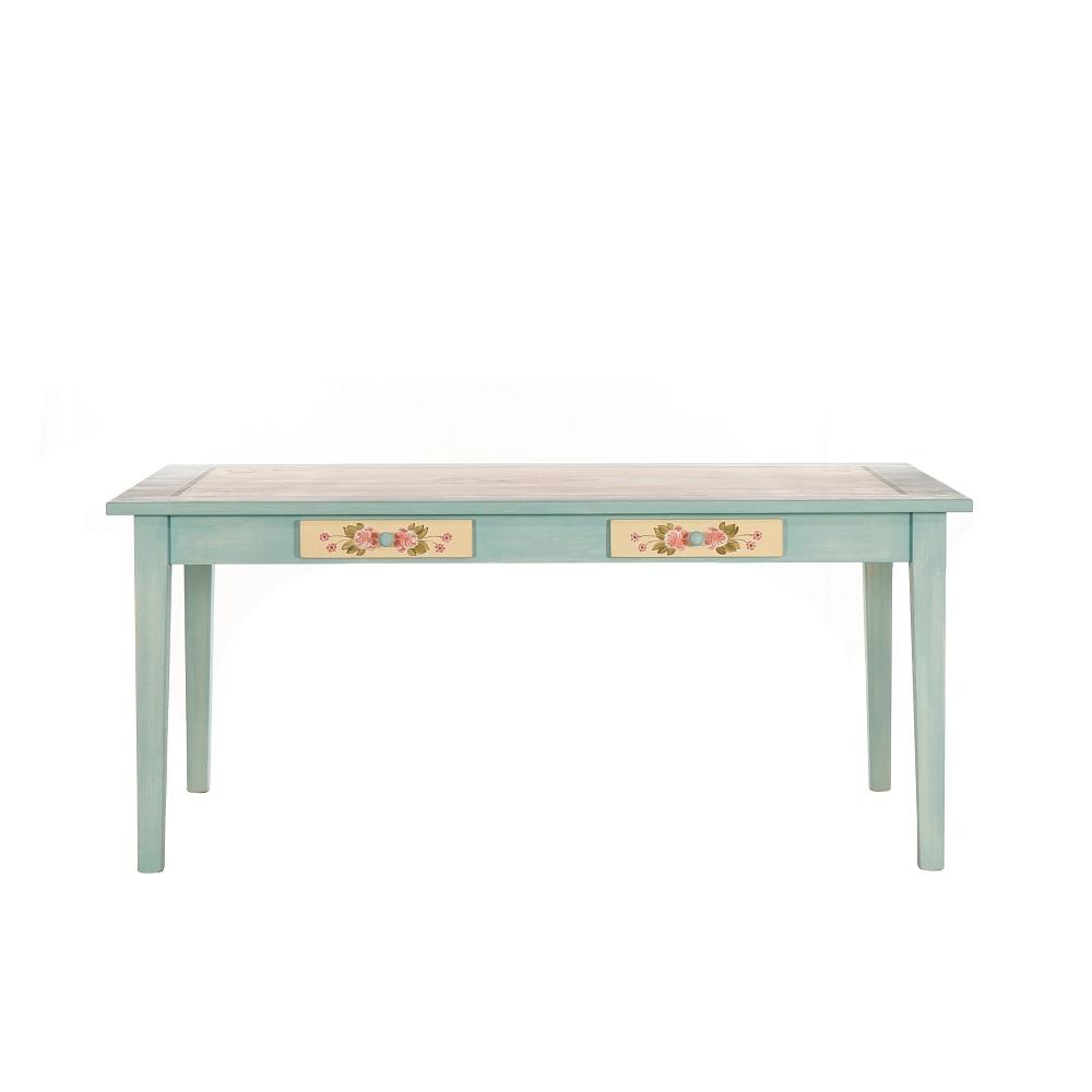 Velký malovaný stůl z masivu Svět pokladů