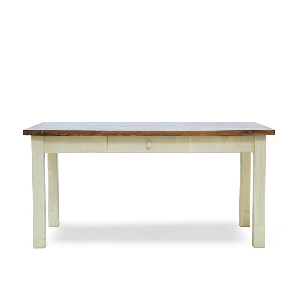 Bílý stůl z masivu Svět pokladů